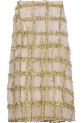 SIMONE ROCHA Tinsel-trimmed tulle midi skirt