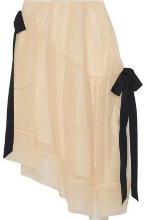 SIMONE ROCHA Asymmetric bow-detailed tulle skirt