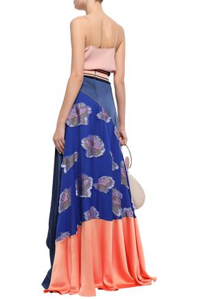 PETER PILOTTO Embellished fil coupé crepe-satin maxi skirt