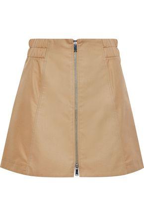 PACO RABANNE Cotton-blend gabardine mini skirt