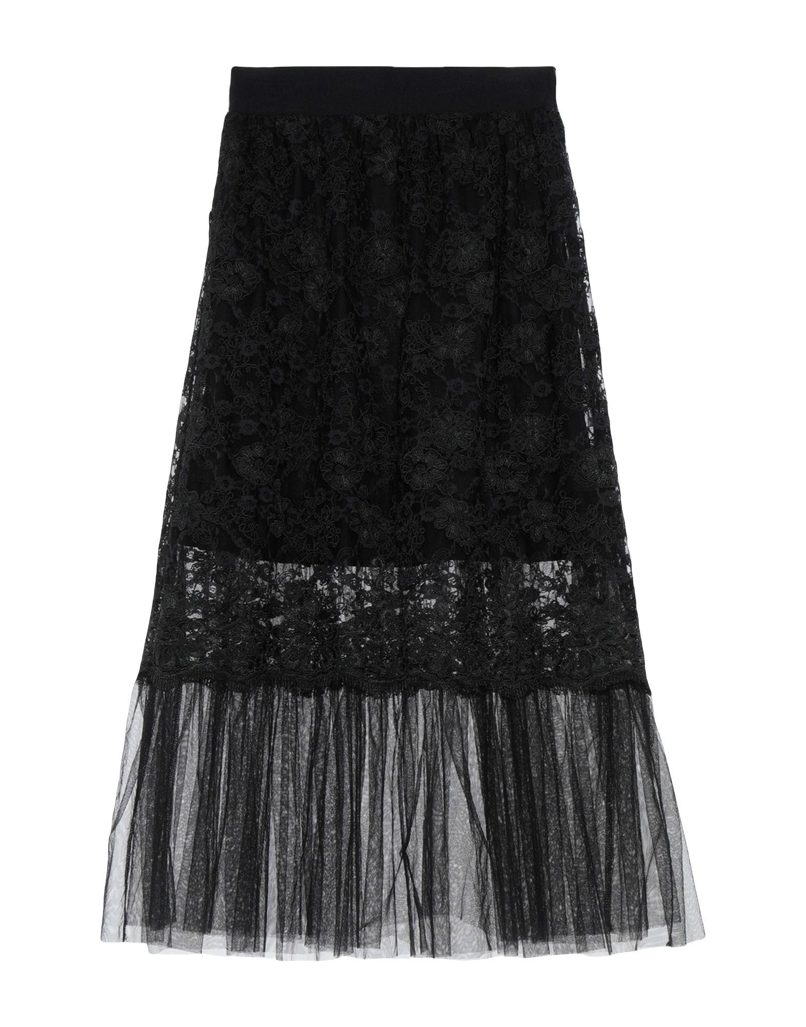 《期間限定セール開催中!》LADY CHOCOPIE レディース 7分丈スカート ブラック 40 ポリエステル 100% / ナイロン