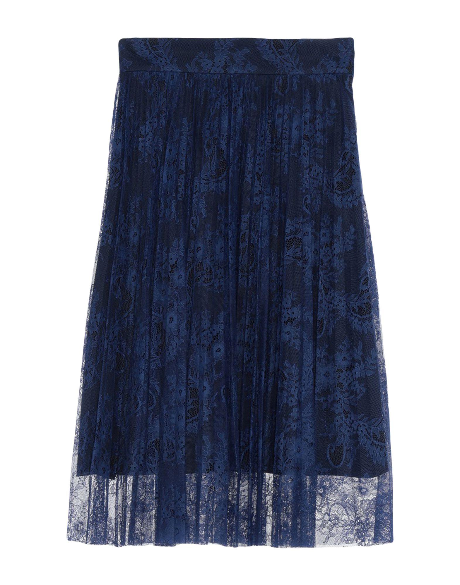 《期間限定 セール開催中》PHILOSOPHY di LORENZO SERAFINI レディース 7分丈スカート ブルー 40 ナイロン 100%