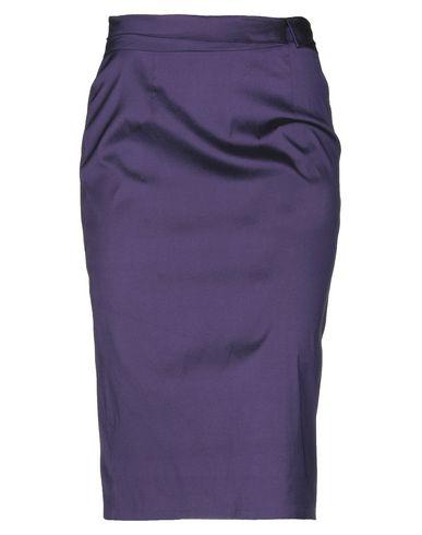 Фото - Юбку длиной 3/4 фиолетового цвета