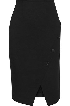 IRIS & INK Raegan button-embellished ponte pencil skirt