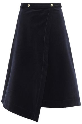 ACNE STUDIOS Asymmetric cotton-blend corduroy wrap skirt