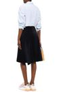 ACNE STUDIOS Asymmetric cotton-blend corduroy wrap skirt