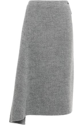 JIL SANDER Asymmetric brushed llama-blend felt skirt