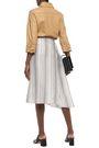 JIL SANDER Asymmetric striped woven silk-jacquard skirt