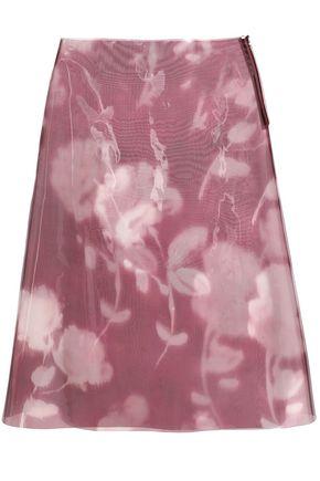 ジル サンダー フローラルプリント PVC ミディスカート