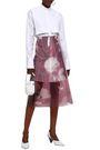 JIL SANDER Floral-print PVC midi skirt