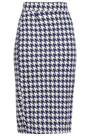 BAUM UND PFERDGARTEN Jaycee houndstooth stretch-jersey pencil skirt