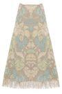 ACNE STUDIOS Fringe-trimmed printed jute-blend midi skirt