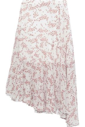 MARKUS LUPFER Nevada asymmetric floral-print chiffon skirt
