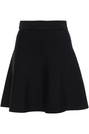 CUSHNIE Flared ponte mini skirt