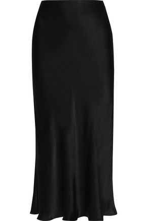 IRIS & INK Brooklyn satin midi skirt