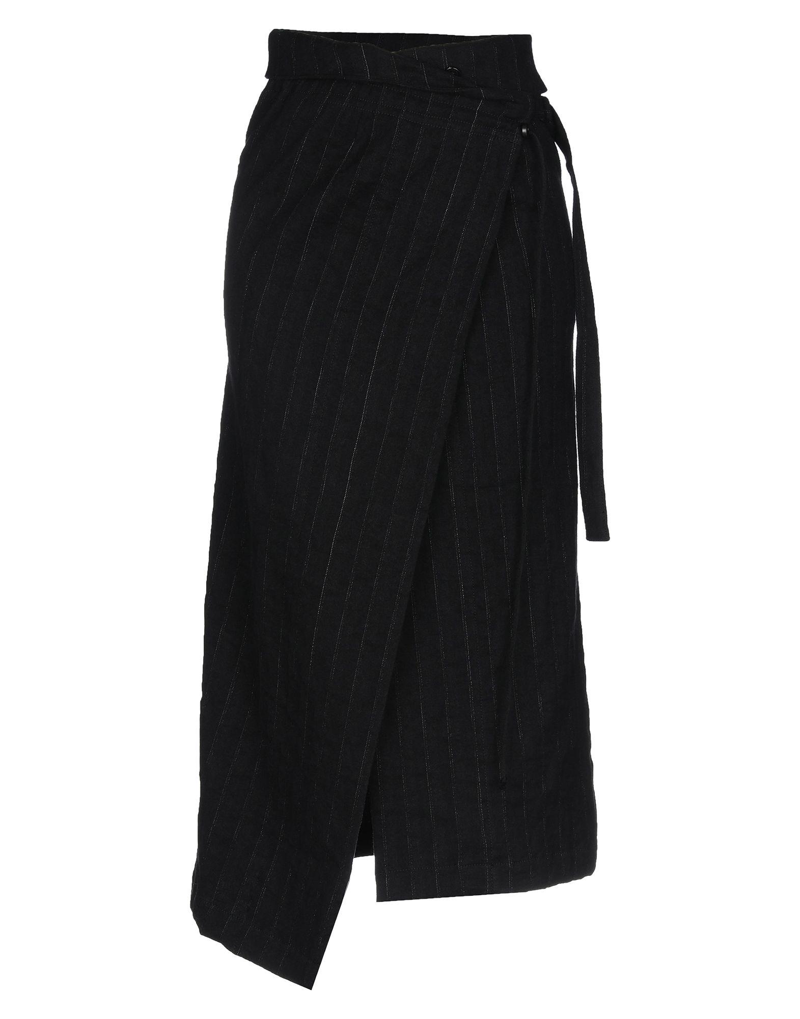 ANN DEMEULEMEESTER Юбка длиной 3/4 ann demeulemeester черная юбка в полоску