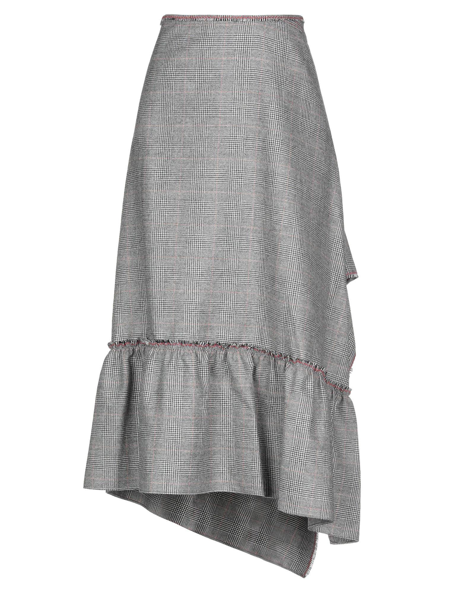《セール開催中》ROLAND MOURET レディース ロングスカート グレー 10 ウール 100%