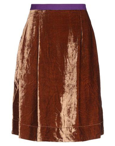 Фото - Юбку до колена от MALÌPARMI коричневого цвета