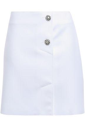 MSGM Crystal-embellished crepe mini skirt