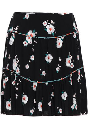 BA&SH Bia floral-print crepe mini skirt