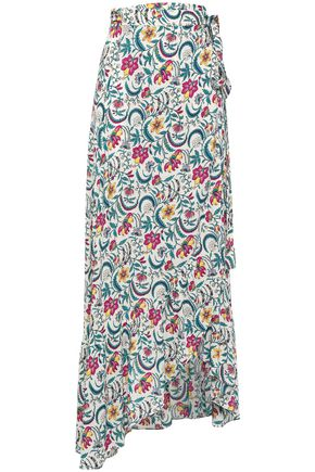 BA&SH Heather floral-print voile maxi wrap skirt