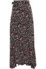 BA&SH Heather floral-print voile maxi wrap skirt