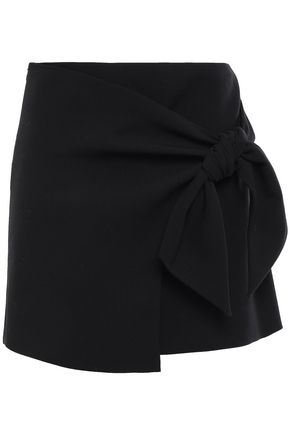 BA&SH Wrap-effect crepe mini skirt