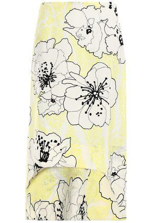 MARNI Asymmetric cotton-poplin skirt