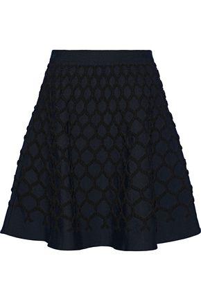 OSCAR DE LA RENTA Flared cloqué mini skirt