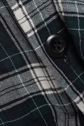 FAITH CONNEXION Tie-front checked cotton-blend skirt