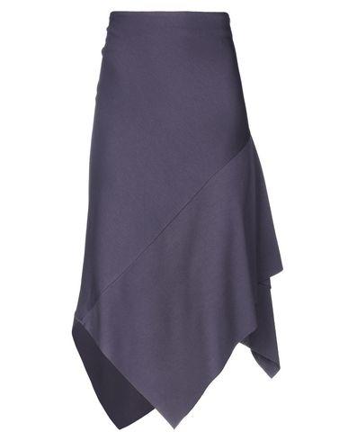 Фото - Юбку длиной 3/4 от VIRNA DRÒ® темно-фиолетового цвета