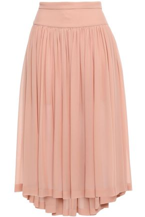 STELLA McCARTNEY Gathered silk-georgette midi skirt