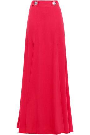 VERSUS VERSACE Button-embellished crepe maxi skirt