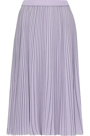 JASON WU Pleated pinstriped georgette skirt