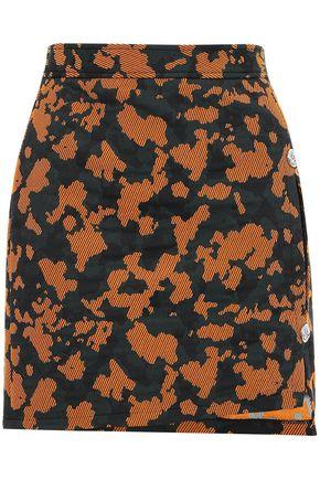 VERSUS VERSACE Cutout cotton-blend jacquard mini skirt