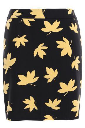 VERSUS VERSACE Floral-print stretch-crepe mini skirt