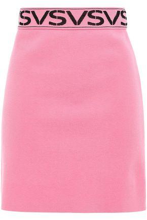 VERSUS VERSACE Stretch jacquard-knit mini skirt
