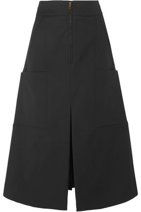 CHLOÉ Flared stretch-cotton midi skirt