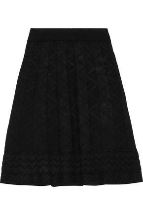 M MISSONI Crochet-knit wool-blend mini skirt