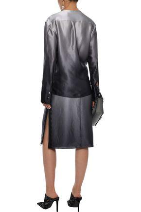 JASON WU Lace-trimmed silk-charmeuse skirt