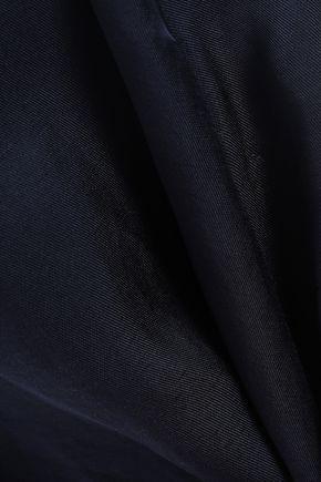 IRIS & INK Ellika button-detailed twill midi skirt