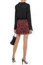IRO Secrets ruffled fil coupé chiffon mini skirt