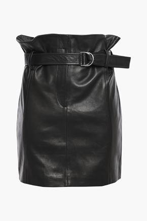 IRO Ravik belted leather mini skirt
