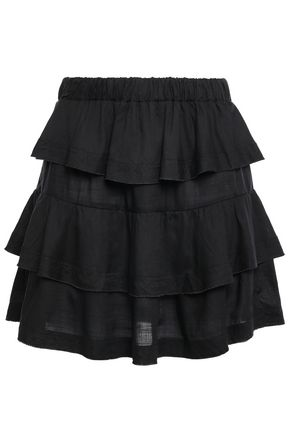 IRO Jiga tiered slub woven mini skirt