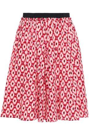 KATE SPADE New York Printed silk-blend mini skirt