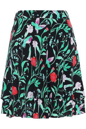 KATE SPADE New York Layered printed crepe mini skirt