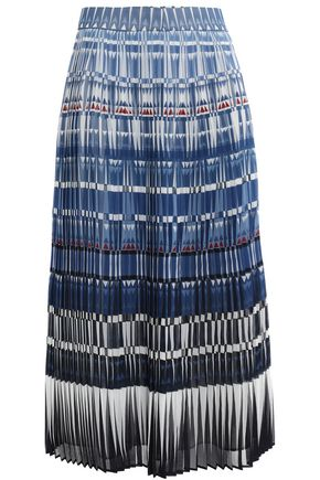 KATE SPADE New York Pleated printed georgette midi skirt