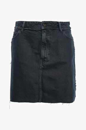 IRO Cafe frayed denim mini skirt