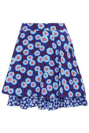 KATE SPADE New York Layered floral-print silk mini skirt