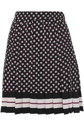 KATE SPADE New York Printed crepe mini skirt